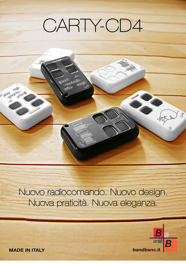 Nuovo telecomando CARTY-CD4
